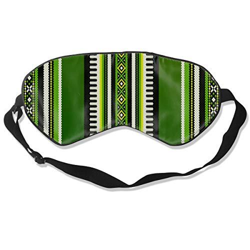 Grünes Thema Sadu Weben Nahöstlichen Traditionellen Teppich Textur Augenbinde Schlaf Augenabdeckung Schattierungsabdeckung Augenschutz zum Schlafen Reisen Entspannen Sie Sich