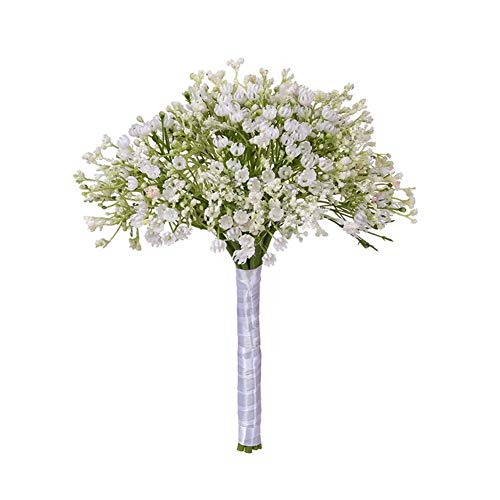 Roovtap Plastikblumen Gypsophila Plant Simulation Bouquet High-End-Dekoration Getrocknete Blumen Fake Flowers Hauptdekorationen Dried Flower (Color : Green) - 4