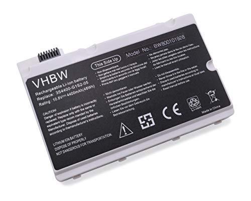 vhbw Akku passend für Belinea c.Book 1700, Belinea 4700G, Gericom Supersonic P55IM Laptop Notebook (Li-Ion, 4400mAh, 10.8V, 47.52Wh, weiß)