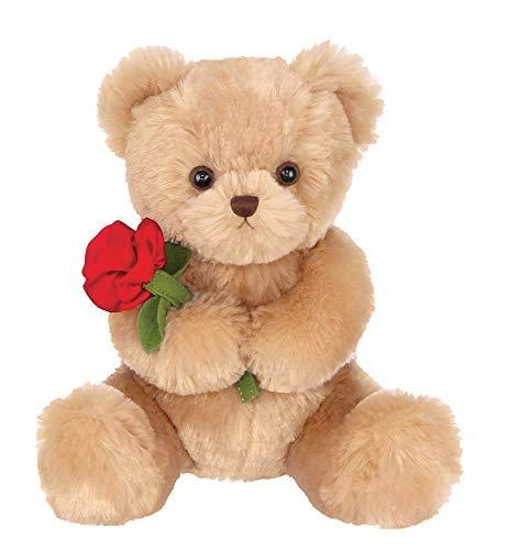 Bearington Remington Plush Stuffed Animal Teddy Bear with Rose, 9.5 Inches