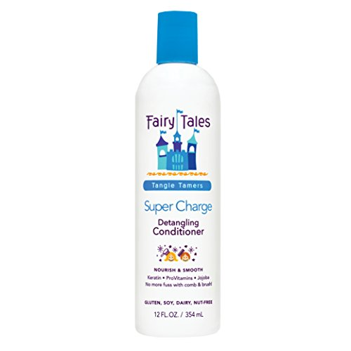 Fairy Tales Tangle Tamer Super Charge - Detangling Conditioner for Kids - Paraben Free, Sulfate Free, Gluten Free, Nut Free- 12 oz