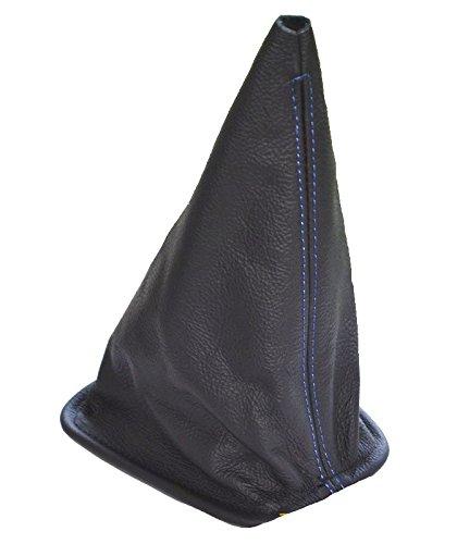 Schaltsack Schaltmanschette schwarz Echt Leder Blau Naht