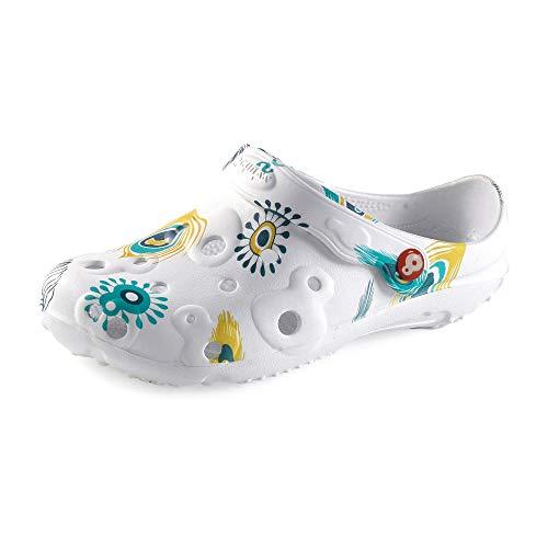 Schu'zz - Peine para mujer, diseño de plumas de pavo real, Multicolor (multicolor), 38 EU ✅