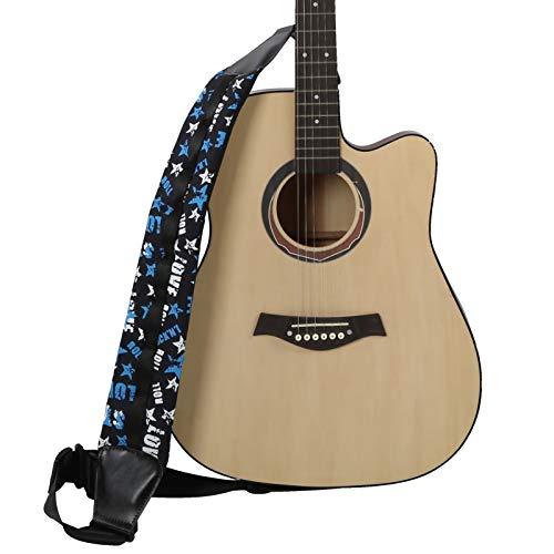 Clasken Correa de Guitarra, Correa de Guitarra Fender, Ajustable, Transpirable, Ancho, bajo...