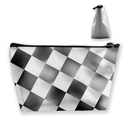 Tablero de ajedrez Bolsas de Maquillaje Bolsas de Viaje Accesorios de baño Organizador