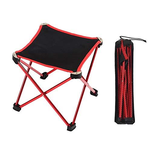 wanglongbaihuo Tragbare Camping-Stuhl Ultra Folding Rucksack KORAMAN Ultralight bewegliche Klapphocker Außen Klappstuhl Pony Zha Aluminium-Legierung Angeln Sketching Stuhl (Color : Red)