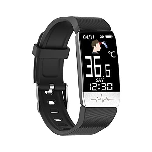 MICGIGI Reloj inteligente para hombre y mujer, para fitness, con podómetro, pulsómetro para iOS y Android
