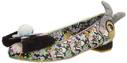 Irregular Choice Damen Forest Friends Geschlossene Ballerinas, Schwarz (Black Multi A), 36 EU