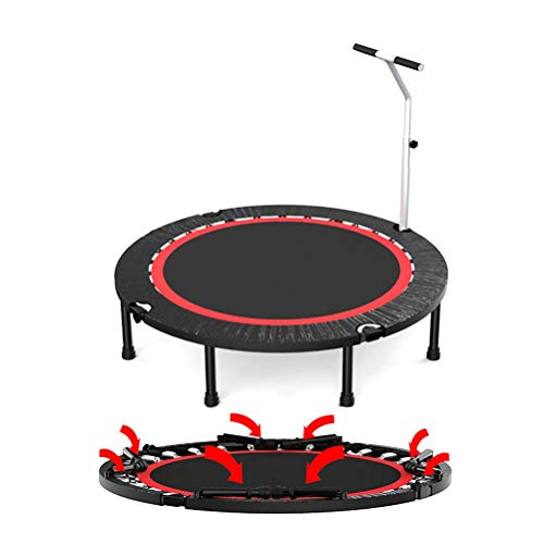 AGYH Portable Folding Trampoline 40/48/50 Inches, Removable Armrest, Suitable for Aerobic Training for Adults and Children, Load 300 Kg, 40in