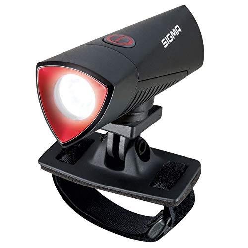 SIGMA SPORT LED-Helmlampe-2022044905 Linterna LED para Casco, Unisex Adulto, Negro, Talla única