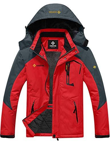 GEMYSE heren waterdicht winddicht ski-jack winterjas wandeljas hardshell jas regenjas met capuchon