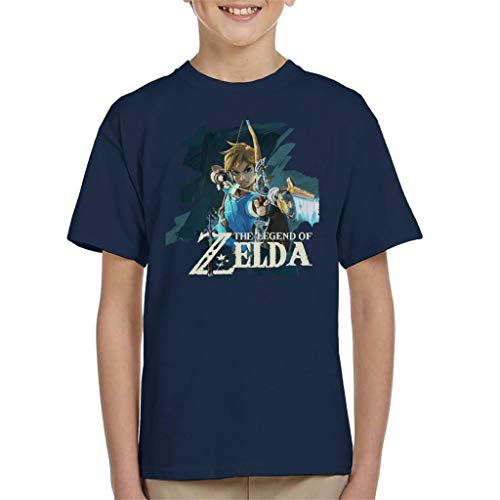 Zelda Breath of The Wild Link Bow and Arrow Kid's T-Shirt