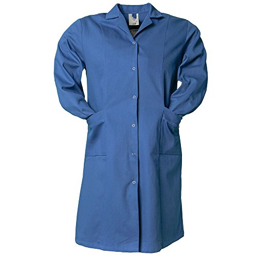 Planam Größe 46 Damen Planam Damen Berufsmantel langarm Baumwolle kornblau Modell 1681