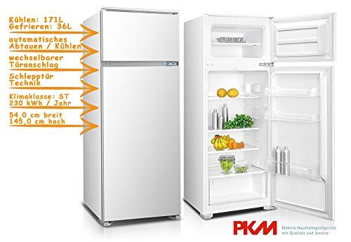 PKM GK225.4A+EBN Kühlschrank /Kühlteil171 liters /Gefrierteil36 liters