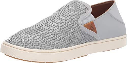 OLUKAI Women's Pehuea Slip On Shoes, Pale Grey/Pale Grey, 8.5