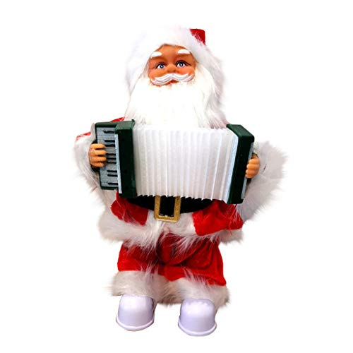 Christmas Decor, Singing and Moving Santa Music Christmas Toy Decoration (Organ Model) Merry Christmas Decorative Holiday Home Party Decor Xmas Ornaments Gifts for Kids Adults