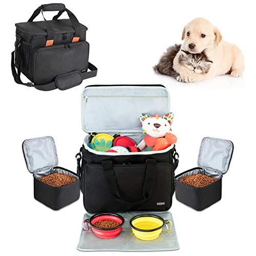 Luxja Reisetasche für Hundeausrüstung, Hundetragetaschen für die Mitnahme von Tiernahrung, Leckereien und Spielzeug, Hundetasche für Hundeerziehung und Unterwegs mit dem Hund