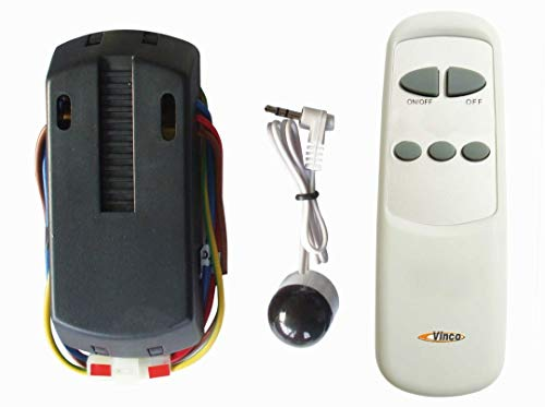 Kit Telecomando Universale Vinco per Ventilatori a Soffitto, 3 Velocità delle Pale, ON/OFF Luce Compatibile con Ventilatori di Altre Marche, Istruzioni in Italiano, Facile da Installare, Plug and Play