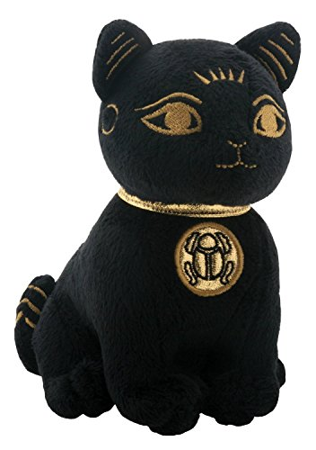 SUMMIT COLLECTION Black and Gold Ancient Egyptian Bastet Cat Kitty Small Plush Doll