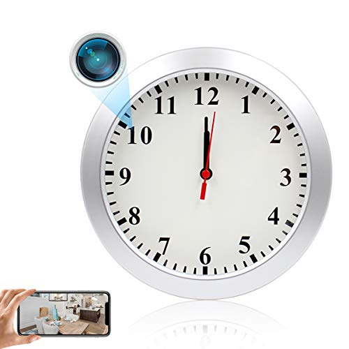 LMGL Wireless Nanny Camera HD 1080P Wall Clock Camera with Wifi Real-Time Video, Motion Detection, No Night Vision, Baby Pet Monitor for Home and Office.
