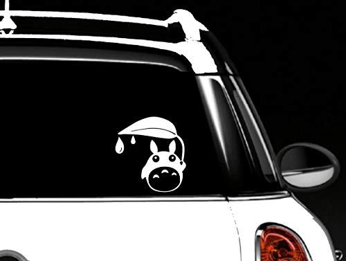 Stevie's Stickers Totoro Car Window Holding a Leaf rain Decal Vinyl Skin