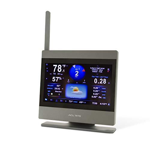 AcuRite Atlas High Definition Touchscreen Weather Station Display (Add-On), Gray
