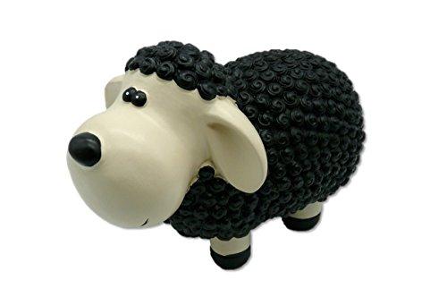 881590 Schaf in schwarz Figur 23 x 14 x 11 cm (Schwarz)