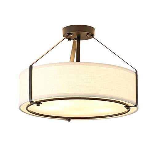 Simple Moderne Chambre Lampe Led Plafonnier Creative Chaud Romantique Tissu Enfants Lampe De Plafond Salle D'étude Restaurant Lampe (Taille : S)