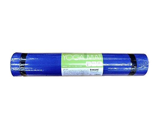 サクライ貿易(SAKURAI) PRO-WING(プロウイング) フィットネス ヨガマット 厚さ6mm ブルー PWF-05BL