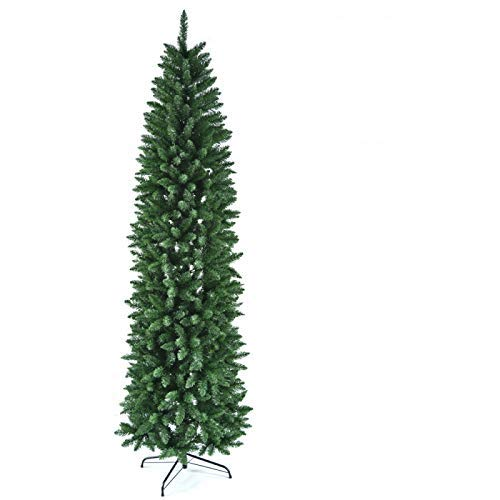 lzndeal Artificial Christmas Tree 7.5 ft Decoration Realistic Ornament PVC Xmas Decor for Home Office Party Company Holiday Indoor Outdoor Store with Metal Stand Easy Setup Green