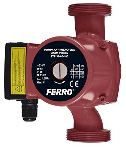 Ferro Umwälzpumpe Trinkwasserpumpe 32-60/180 mit Dichtungen, Kreiselpumpe, W0302