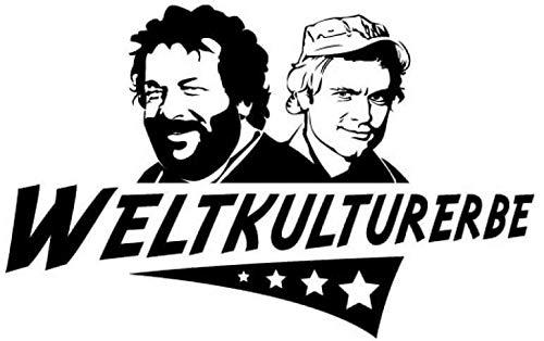 myrockshirt Weltkulturerbe Bud Spencer Terrence Hill 20cm Aufkleber,Sticker,Decal,Autoaufkleber,UV&Waschanlagenfest,Profi-Qualität