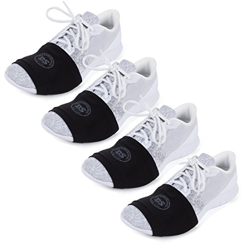 THE DANCESOCKS - 100% USA Made Over Sneaker Dance Socks, Smooth Floors (4 Pairs - Black)