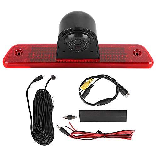Deror 12V HD Impermeable Vista Trasera cámara de Marcha atrás lámpara de Freno Monitor Apto para Toyota Proace 2007-2016