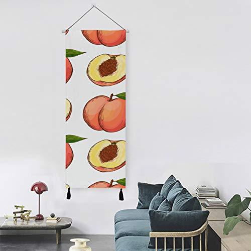 WYYWCY Aprikose frische Früchte Wandfarbe für Küchengewebe Kunst Wanddekoration 13 Zoll Breite X 47 Zoll Lange Moderne Wohnkultur Wand Badezimmer Dekor Küche Wandkunst