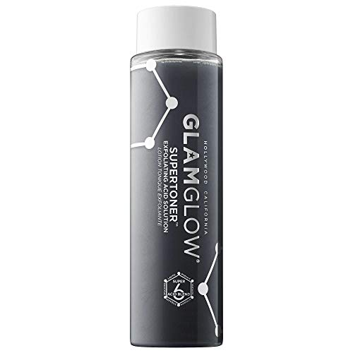 Glamglow Supertoner Exfoliating Acid Solution Toner 7 Oz! Face Toner With Clay, Charcoal, And Acid Solutions! Help Exfoliate, Purify, and Clarify The Skin Complexion! Includes Beauty Dust Travel Pack!