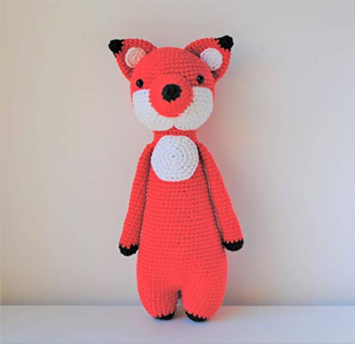 Renard peluche 33cm crocheté main Amigurumi Marshmallow Toys