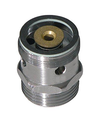 Sanitop-Wingenroth 17134 2 Rohrbelüfter für Auslaufventil 06205 3 mit Rückflussverhinderer 3/4 Zoll x M28, messing verchromt