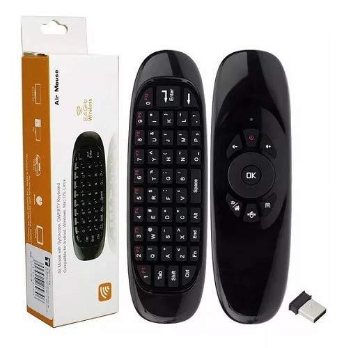 Controle Smart Teclado Air Mouse Sem Fio Recarregável