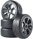 12mm Hex Wheels 4 Unids RC 1/8 Escala En Carretera Hot Melt Goma Neumático Y Rueda Rueda De Rueda 17mm Ruedas Hex para 1: 8 HABAO HSP HPI KYOSHO RC Piezas De Automóviles (Style2) Ruedas RC