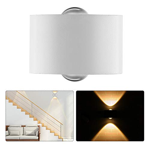 ONEVER COB LED Applique Up and Down Wall Sconce 2LEDs Blanc Chaud 3000K AC 85-265V Corridor Garden Courtyard