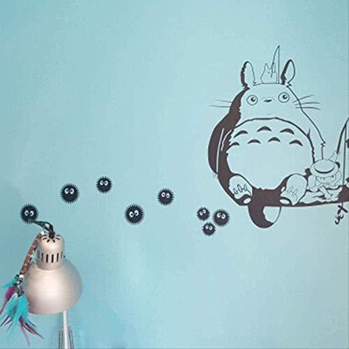 Nicoole 3D Wandaufkleber Wandaufkleber Niedlich Niedlich Vinyl Wandaufkleber Anime Abziehbild-Ghibli Mein Nachbar Totoro Grau Splash Wandtattoo Anime Dekoration