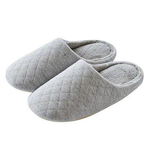 Japonais Mesdames hiver et chaleureux Chaussures Indoor Maison Slipper, Gris