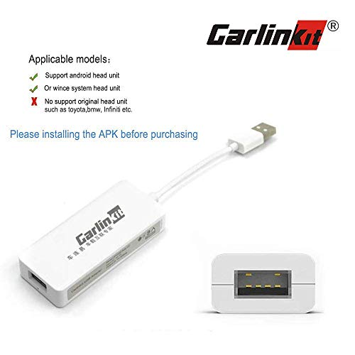 Install Autokit app in Android Car Radio Wireless Carplay dongle Wired USB Android Auto Carplay dongle Screen Mirroring SIRI Voice Control Google Maps not supports Original Factory Car Radio black