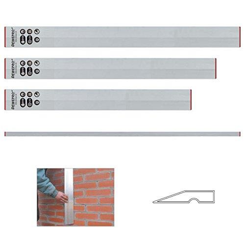 3 tlg. Set - DEWEPRO® Aluminium Trapez Kartätsche - Abziehlatte - Richtscheit - Putzlatte - Längen: 100cm, 150cm und 200cm (1m, 1,5m und 2m)