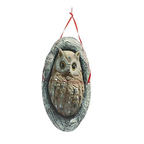 perfk Adornos de Estatua de Jardín Figuritas Decoración de Madera Pintada para Patio de Casa Al Aire Libre Regalo Idílico de Inauguración de La Casa