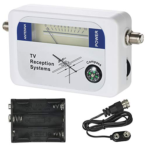 TV Antenna Signal Detector, KKmoon Satellite Signal Finder Satellite Signal Meter Mini TV Antenna Satellite Signal Finder Meter with Compass