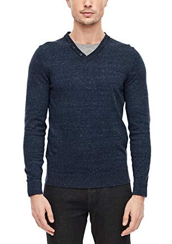 s.Oliver Herren 28.912.61.6882 Pullover, Blau (Geishas Night Blue 5952), X-Large (Herstellergröße: XL)
