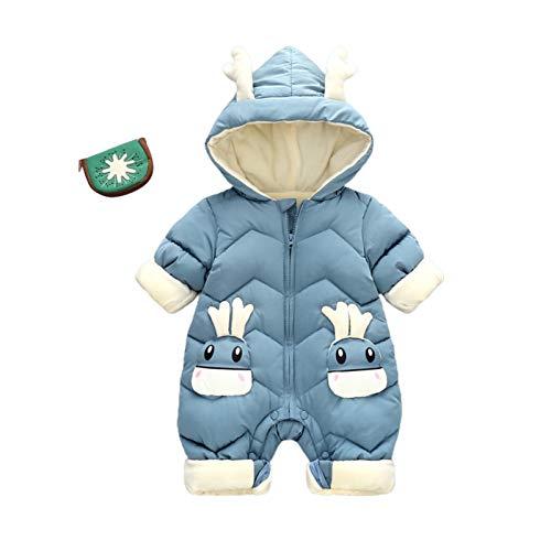 AQIN Traje de Nieve de Invierno para Bebé Cervatillo Más Mono Grueso de Terciopelo para Bebés 0-2 Años Mameluco Recién Nacido Monos para Niñas Abrigo para Niños Pequeños Monos Más
