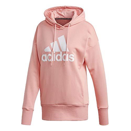 adidas Badge of Sport Long Hoodie Women's, Pink, Size S